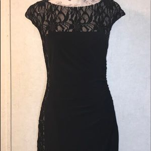 Black and Tan Lace Dress